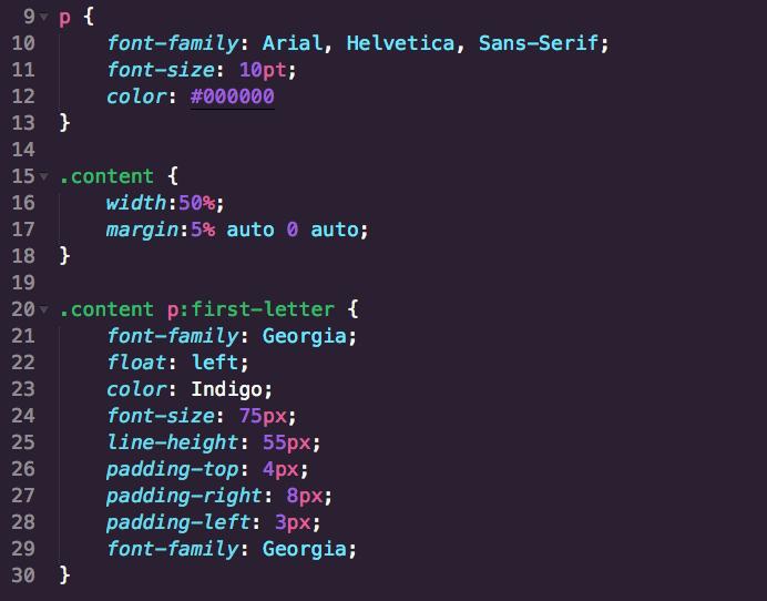 Drop Cap with CSS 2