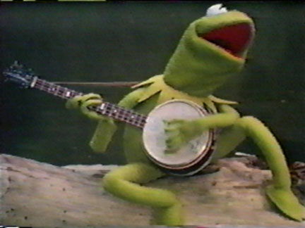 Kermit playing banjo