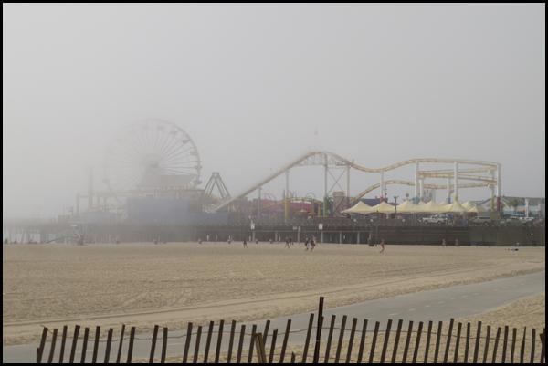 Santa Monica Pier Fog