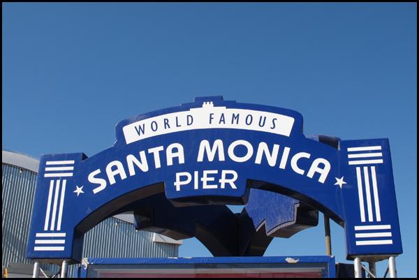 Santa Monica Pier Signage