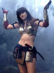 Xena Warrior Princess shrugging