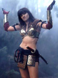 Xena Warrior Princess shrugging