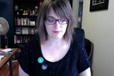 Self Portrait, Wearing NMT mood buttons